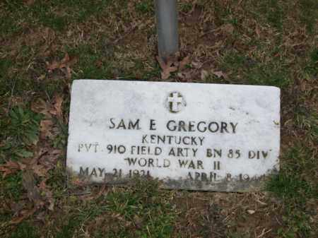 GREGORY (VETERAN WWII), SAM E - Rowan County, Kentucky | SAM E GREGORY (VETERAN WWII) - Kentucky Gravestone Photos