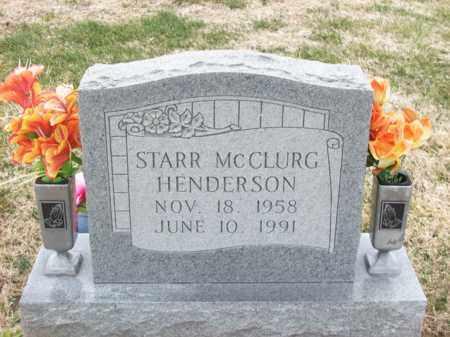 MCCLURG HENDERSON, STARR - Rowan County, Kentucky | STARR MCCLURG HENDERSON - Kentucky Gravestone Photos