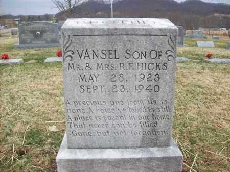 HICKS, VANSEL - Rowan County, Kentucky   VANSEL HICKS - Kentucky Gravestone Photos
