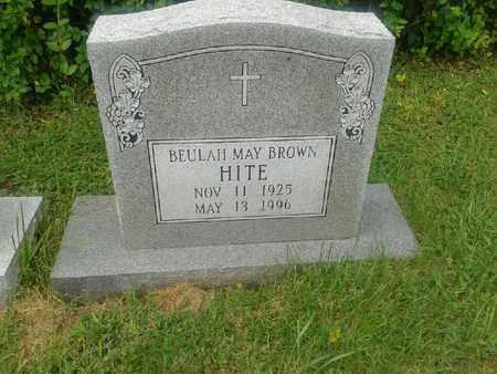BROWN HITE, BEULAH MAY - Rowan County, Kentucky | BEULAH MAY BROWN HITE - Kentucky Gravestone Photos