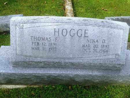 HOGGE, NINA D - Rowan County, Kentucky | NINA D HOGGE - Kentucky Gravestone Photos