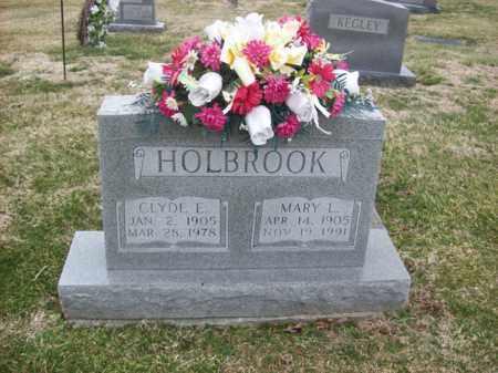 HOLBROOK, CLYDE E - Rowan County, Kentucky | CLYDE E HOLBROOK - Kentucky Gravestone Photos