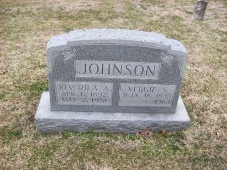 JOHNSON, REV RILA A - Rowan County, Kentucky   REV RILA A JOHNSON - Kentucky Gravestone Photos
