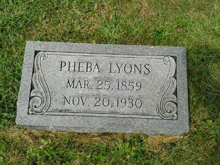 LYONS, PHEBA - Rowan County, Kentucky | PHEBA LYONS - Kentucky Gravestone Photos