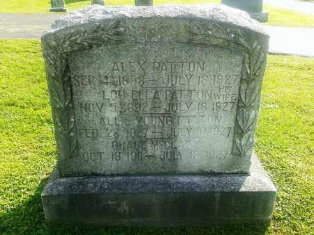 PATTON, ALLIE YOUNG - Rowan County, Kentucky | ALLIE YOUNG PATTON - Kentucky Gravestone Photos