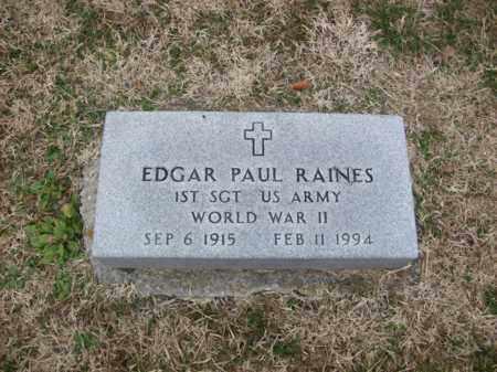 RAINES (VETERAN WWII), EDGAR PAUL - Rowan County, Kentucky | EDGAR PAUL RAINES (VETERAN WWII) - Kentucky Gravestone Photos