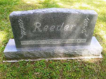 REEDER, GEORGE N - Rowan County, Kentucky | GEORGE N REEDER - Kentucky Gravestone Photos