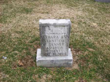 ROBERTS, BARBARA ANN - Rowan County, Kentucky | BARBARA ANN ROBERTS - Kentucky Gravestone Photos