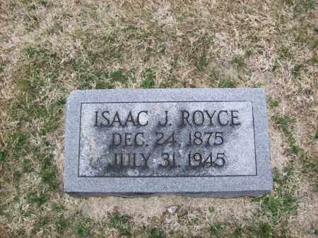 ROYCE, ISAAC J - Rowan County, Kentucky | ISAAC J ROYCE - Kentucky Gravestone Photos
