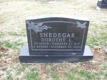 SNEDEGAR, DOROTHY L - Rowan County, Kentucky   DOROTHY L SNEDEGAR - Kentucky Gravestone Photos