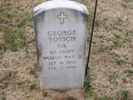 TOTICH (VETERAN WWII), GEORGE - Rowan County, Kentucky | GEORGE TOTICH (VETERAN WWII) - Kentucky Gravestone Photos