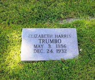 HARRIS TRUMBO, ELIZABETH - Rowan County, Kentucky | ELIZABETH HARRIS TRUMBO - Kentucky Gravestone Photos