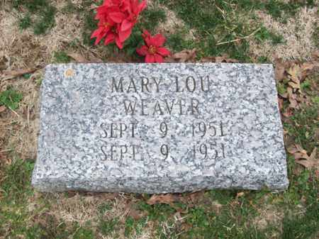 WEAVER, MARY LOU - Rowan County, Kentucky | MARY LOU WEAVER - Kentucky Gravestone Photos