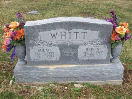 WHITT, BERLIN - Rowan County, Kentucky | BERLIN WHITT - Kentucky Gravestone Photos
