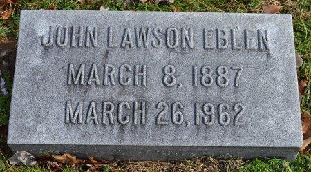EBLIN, JOHN LAWSON - Shelby County, Kentucky | JOHN LAWSON EBLIN - Kentucky Gravestone Photos