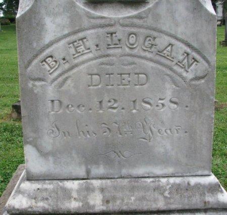 LOGAN, BENJAMIN HARRISON (CLOSE UP) - Shelby County, Kentucky | BENJAMIN HARRISON (CLOSE UP) LOGAN - Kentucky Gravestone Photos