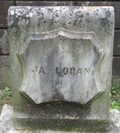 LOGAN, JAS  (JAMES FOOT STONE)? - Shelby County, Kentucky   JAS  (JAMES FOOT STONE)? LOGAN - Kentucky Gravestone Photos