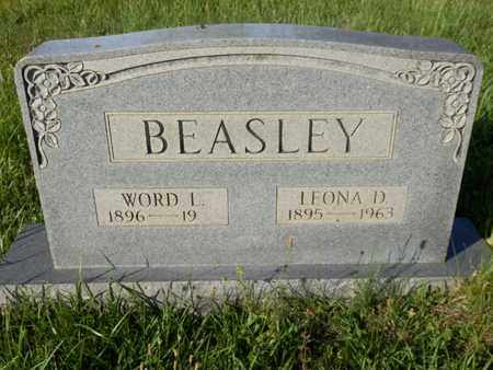 BEASLEY, WORD L. - Simpson County, Kentucky | WORD L. BEASLEY - Kentucky Gravestone Photos