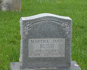 BUSH, MARTHA JANE - Simpson County, Kentucky | MARTHA JANE BUSH - Kentucky Gravestone Photos