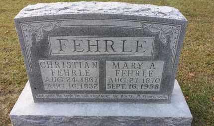 FEHRLE, MARY A. - Simpson County, Kentucky | MARY A. FEHRLE - Kentucky Gravestone Photos