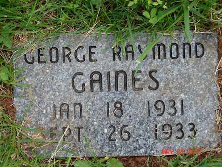GAINES, GEORGE RAYMOND - Simpson County, Kentucky | GEORGE RAYMOND GAINES - Kentucky Gravestone Photos