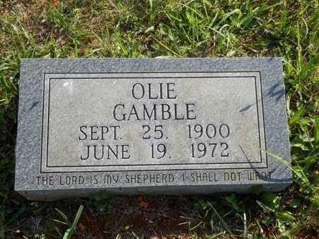 GAMBLE, OLIE - Simpson County, Kentucky   OLIE GAMBLE - Kentucky Gravestone Photos