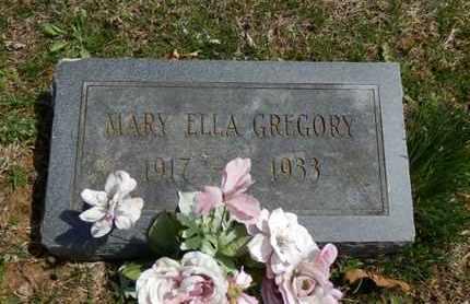 GREGORY, MARY ELLA - Simpson County, Kentucky | MARY ELLA GREGORY - Kentucky Gravestone Photos