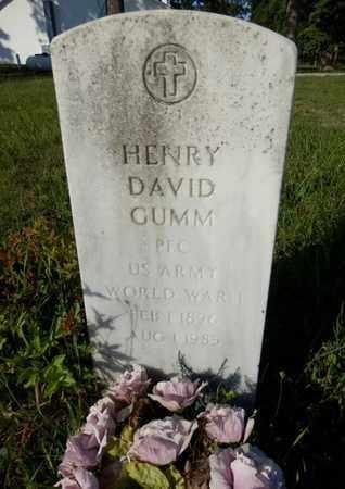 GUMM (VETERAN WWI), HENRY DAVID - Simpson County, Kentucky | HENRY DAVID GUMM (VETERAN WWI) - Kentucky Gravestone Photos