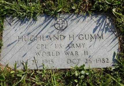 GUMM (VETERAN WWII), HUGHLAND H. - Simpson County, Kentucky | HUGHLAND H. GUMM (VETERAN WWII) - Kentucky Gravestone Photos