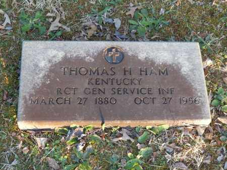 HAM (VETERAN), THOMAS H. - Simpson County, Kentucky | THOMAS H. HAM (VETERAN) - Kentucky Gravestone Photos