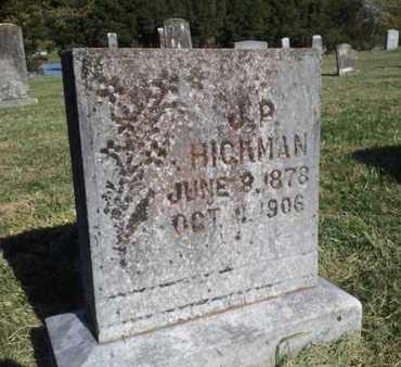 HICKMAN, J.P. - Simpson County, Kentucky | J.P. HICKMAN - Kentucky Gravestone Photos
