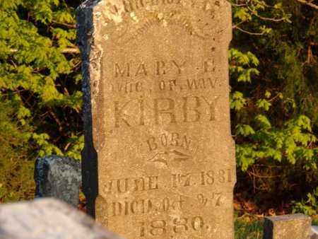 KIRBY, MARY E. - Simpson County, Kentucky   MARY E. KIRBY - Kentucky Gravestone Photos