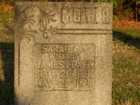 LEAKE, SARAH A. - Simpson County, Kentucky | SARAH A. LEAKE - Kentucky Gravestone Photos