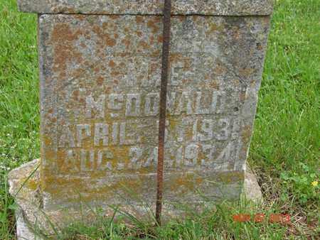 MCDONALD, M.E. - Simpson County, Kentucky | M.E. MCDONALD - Kentucky Gravestone Photos