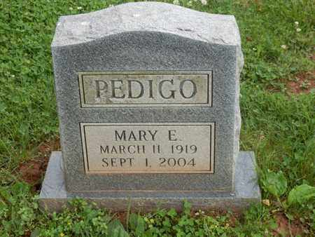 PEDIGO, MARY E. - Simpson County, Kentucky | MARY E. PEDIGO - Kentucky Gravestone Photos