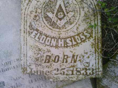 SLOSS, ELDON H. - Simpson County, Kentucky | ELDON H. SLOSS - Kentucky Gravestone Photos