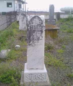 SLOSS, SARAH - Simpson County, Kentucky   SARAH SLOSS - Kentucky Gravestone Photos