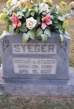 STEGER, GUSTAV A. - Simpson County, Kentucky | GUSTAV A. STEGER - Kentucky Gravestone Photos