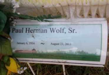 WOLF, PAUL HERMAN, SR. - Simpson County, Kentucky   PAUL HERMAN, SR. WOLF - Kentucky Gravestone Photos
