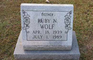 WOLF, RUBY N. - Simpson County, Kentucky | RUBY N. WOLF - Kentucky Gravestone Photos