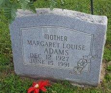 ADAMS, MARGARET LOUISE - Union County, Kentucky | MARGARET LOUISE ADAMS - Kentucky Gravestone Photos