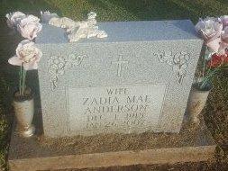 ANDERSON, ZADIA MAE - Union County, Kentucky | ZADIA MAE ANDERSON - Kentucky Gravestone Photos
