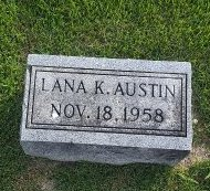 AUSTIN, LANA K - Union County, Kentucky | LANA K AUSTIN - Kentucky Gravestone Photos