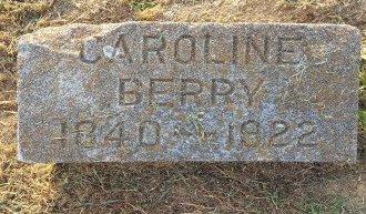 BERRY, CAROLINE - Union County, Kentucky | CAROLINE BERRY - Kentucky Gravestone Photos