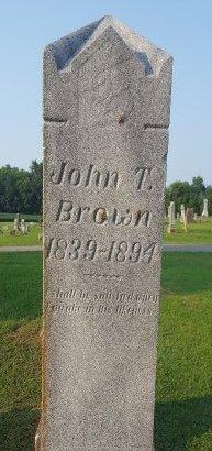 BROWN, JOHN T - Union County, Kentucky | JOHN T BROWN - Kentucky Gravestone Photos