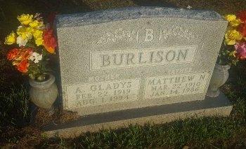 BURLISON, A GLADYS - Union County, Kentucky | A GLADYS BURLISON - Kentucky Gravestone Photos