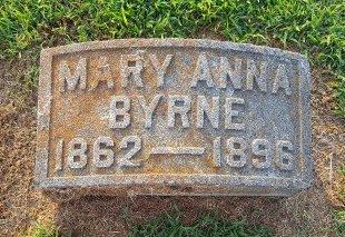 BYRNE, MARY ANNA - Union County, Kentucky | MARY ANNA BYRNE - Kentucky Gravestone Photos