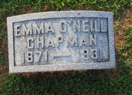 O'NEILL CHAPMAN, EMMA - Union County, Kentucky   EMMA O'NEILL CHAPMAN - Kentucky Gravestone Photos
