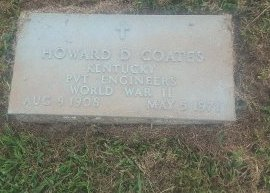 COATES (VETERAN WW2), HOWARD D - Union County, Kentucky   HOWARD D COATES (VETERAN WW2) - Kentucky Gravestone Photos