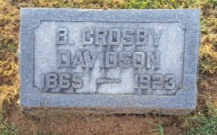 DAVIDSON, B. CROSBY - Union County, Kentucky | B. CROSBY DAVIDSON - Kentucky Gravestone Photos